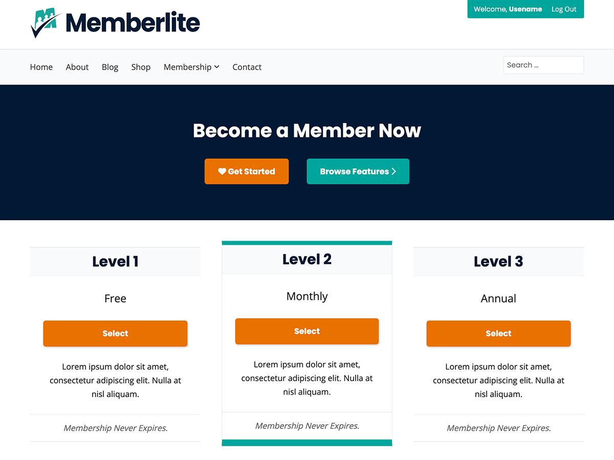 Memberlite Homepage