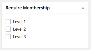 Set Membership Restrictions for a Page