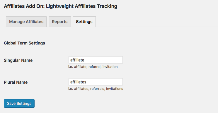 Rename the Term Affiliates