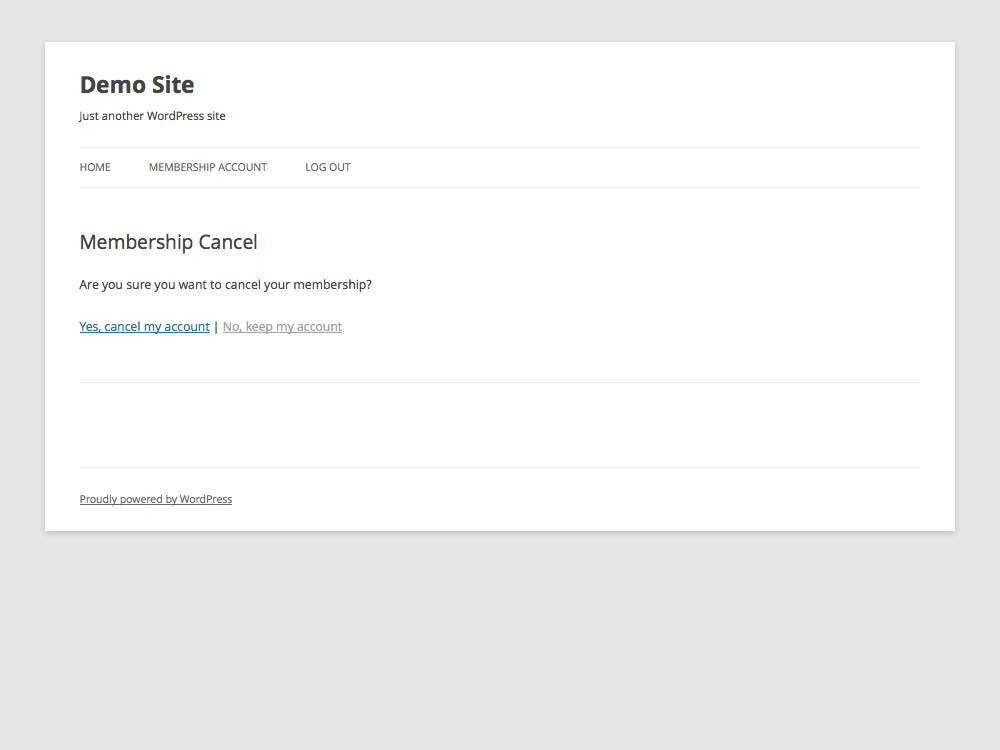 Cancel Membership Page