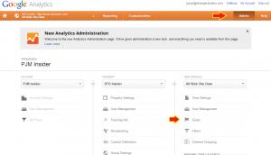Finding Goals in Google Analytics