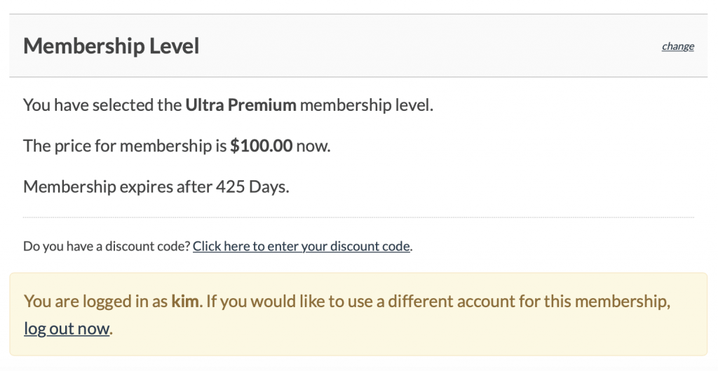 Changing levels and extending membership