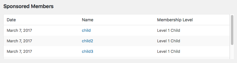 Admin can view the child accounts for a given user on the Edit User page