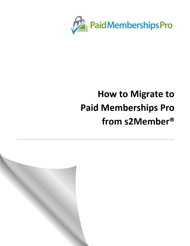 s2member to PMPro migration guide PDF cover