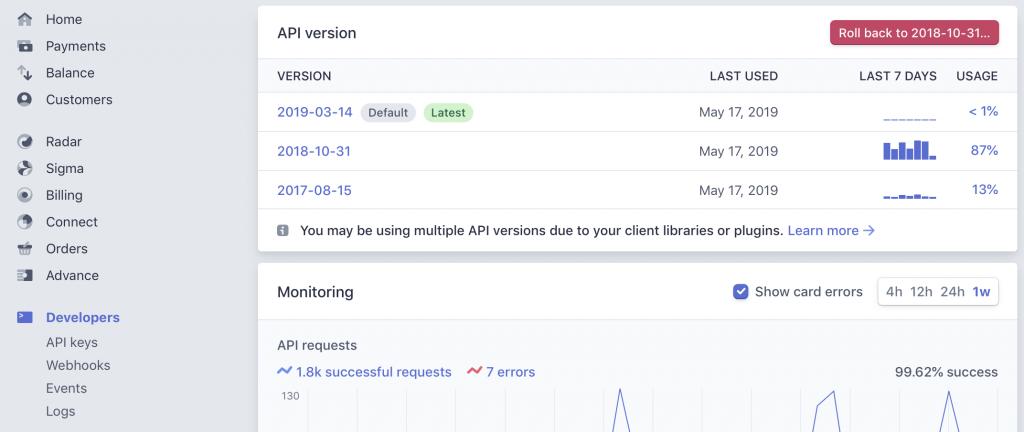 Stripe API Version