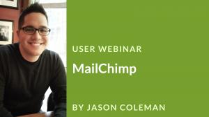 Webinar Banner: Mailchimp with Jason Coleman