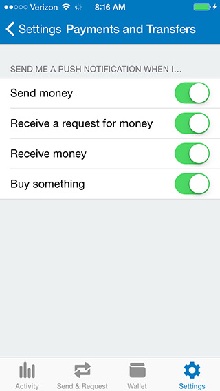 paypal app ios android