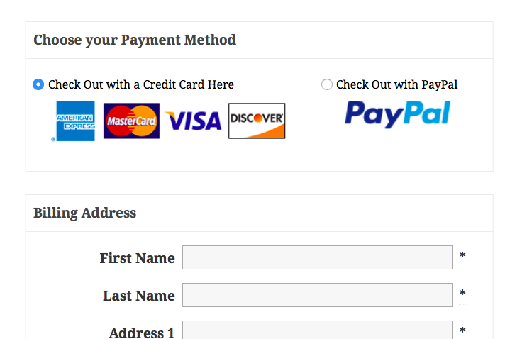 Offer PayPal as payment method at checkout