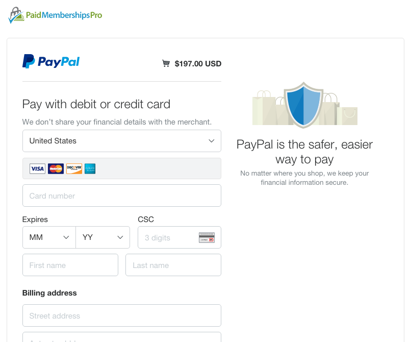 Customizing your PayPal Checkout Page Design | Paid Memberships Pro