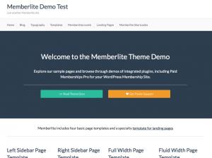 Memberlite Demo Homepage
