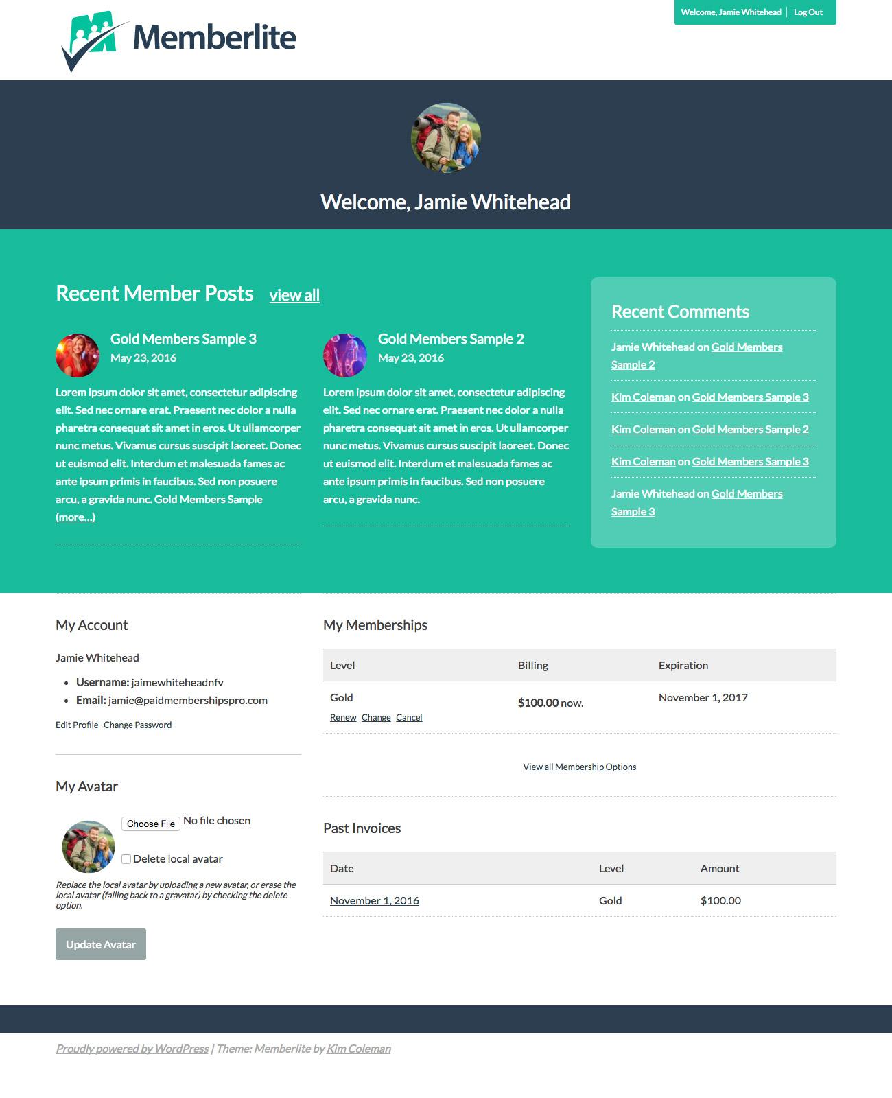 Premium Content Publisher or Magazine Member Dashboard