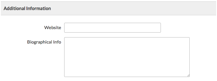 Default WP User fields at checkout