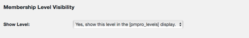 Membership level visibility