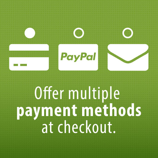 Offer multiple payment methods at checkout
