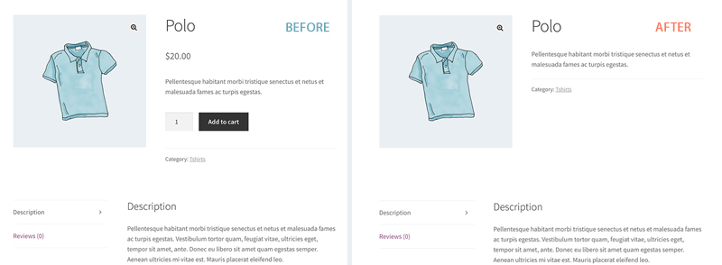 Screenshot showing before and after of non-members from viewing product prices and purchasing