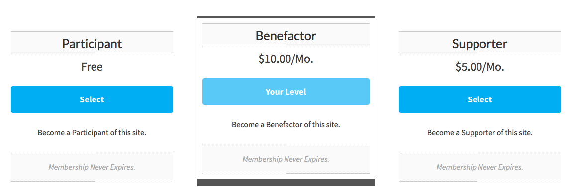 Screenshot of Better Level Cost Text with a Better Levels Page
