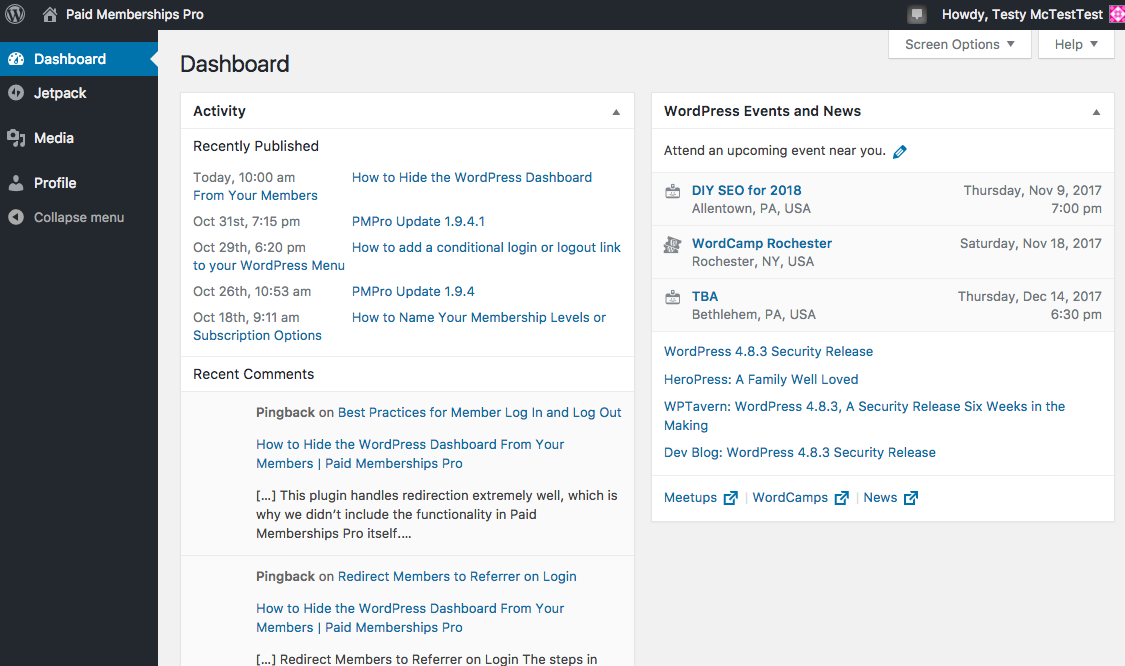 Hide the WordPress Dashboard and Send Members Where You Want Them