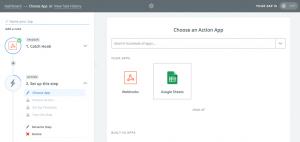 PMPro Zapier Step 4: Choose an Action App