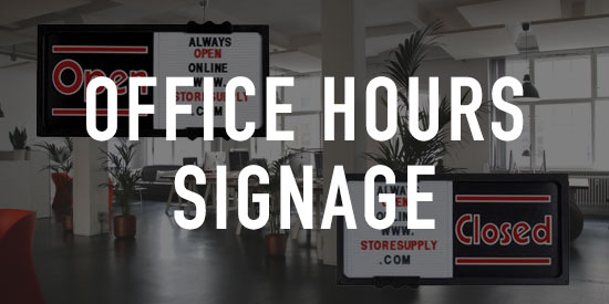 Office Hours Signage
