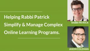 Rabbi Patrick and Jason Coleman Webinar Banner