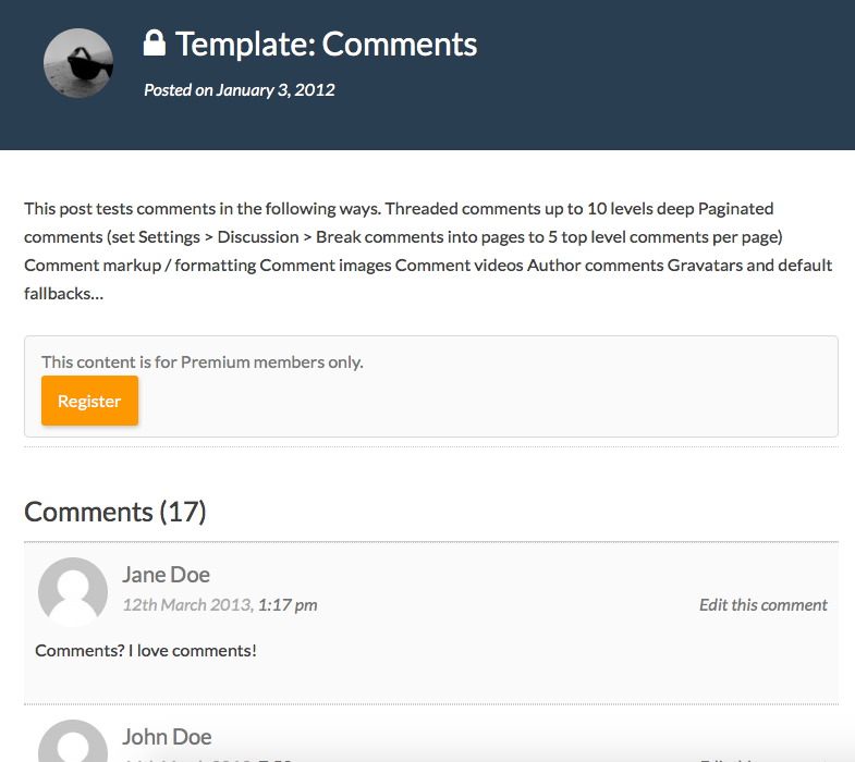 Display Comments on a Members-Only WordPress Post to Non-Members ...