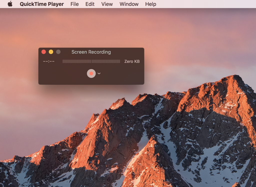 Mac QuickTime Player Screen Recording
