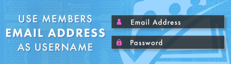 use a members email address as a username paid memberships pro image