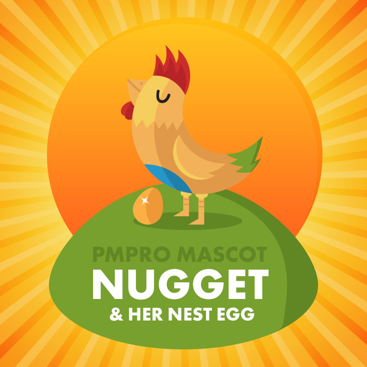 PMPro Mascot - Nugget and her nest egg