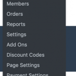 Admin Menu with all Settings Page Links