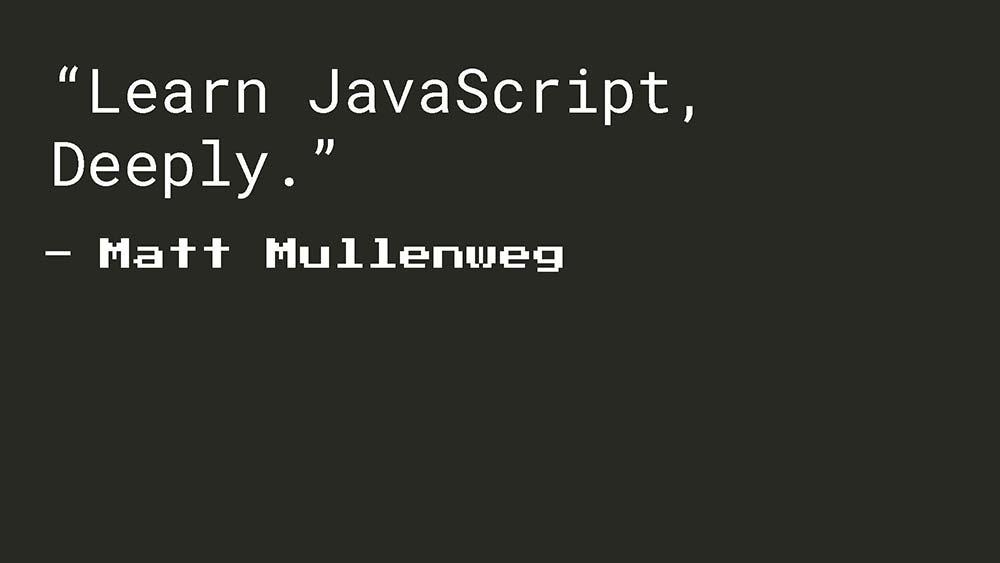 Matt Mullenweg - Learn JavaScript Deeply