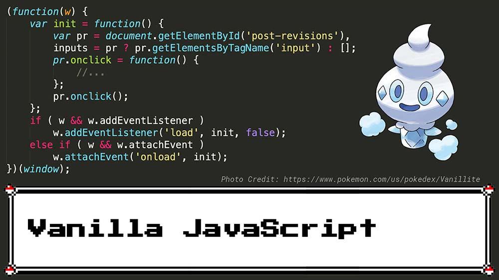 Vanilla JavaScript Example
