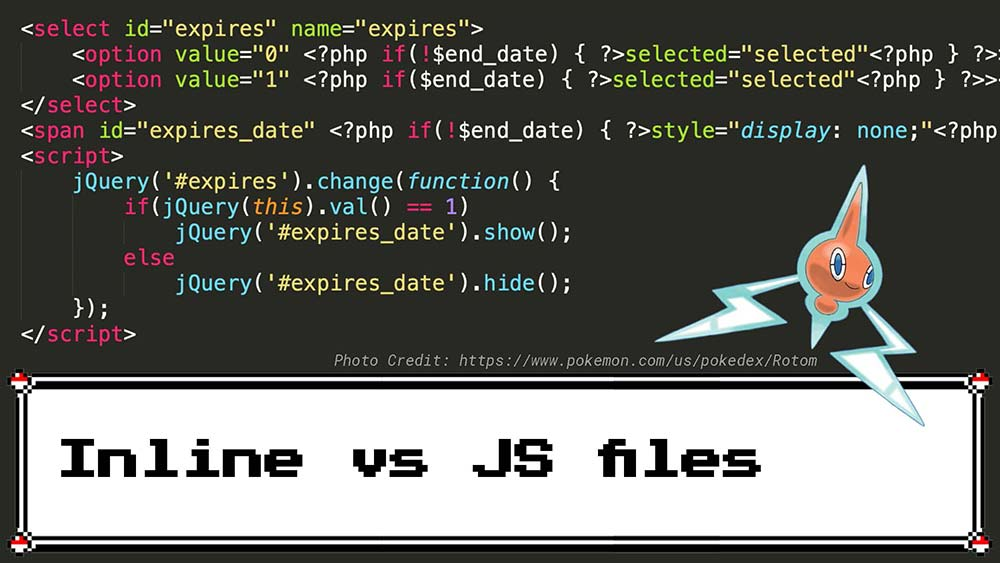 Inline vs JS File JavaScript Example