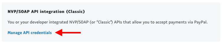 PayPal: NVP/SOAP API Key