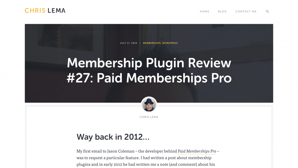 Chris Lema | Paid Memberships Pro Review