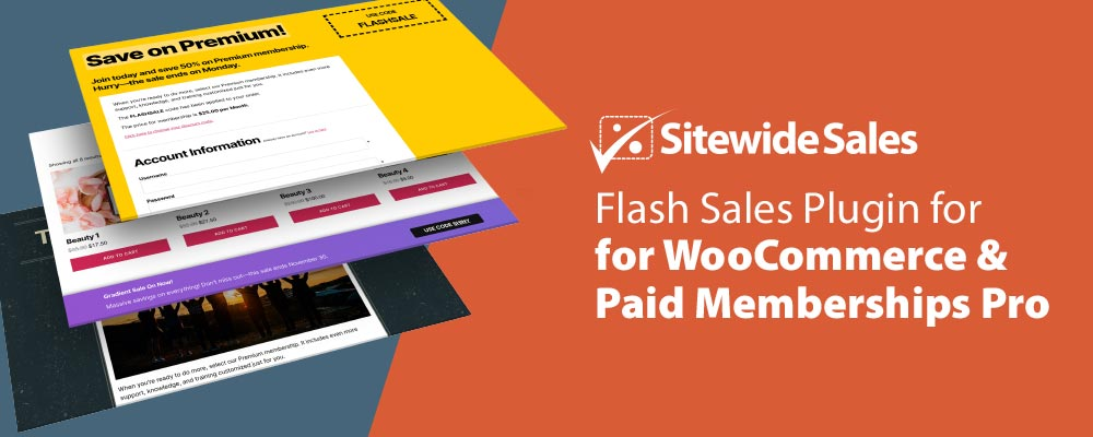 Banner for Sitewide Sales Flash Sales Tool for WooCommerce and Paid Memberships Pro