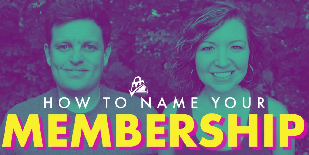 How to name your membership level/subscription