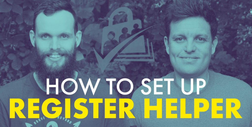 How to set up Register Helper