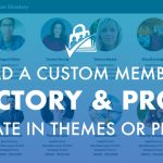 Load a custom member directory or profile template in theme or plugin