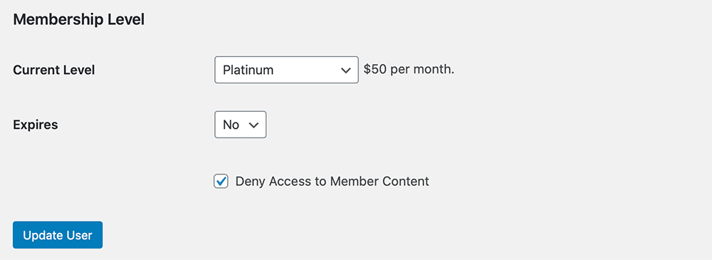Profile field to deny access to member content