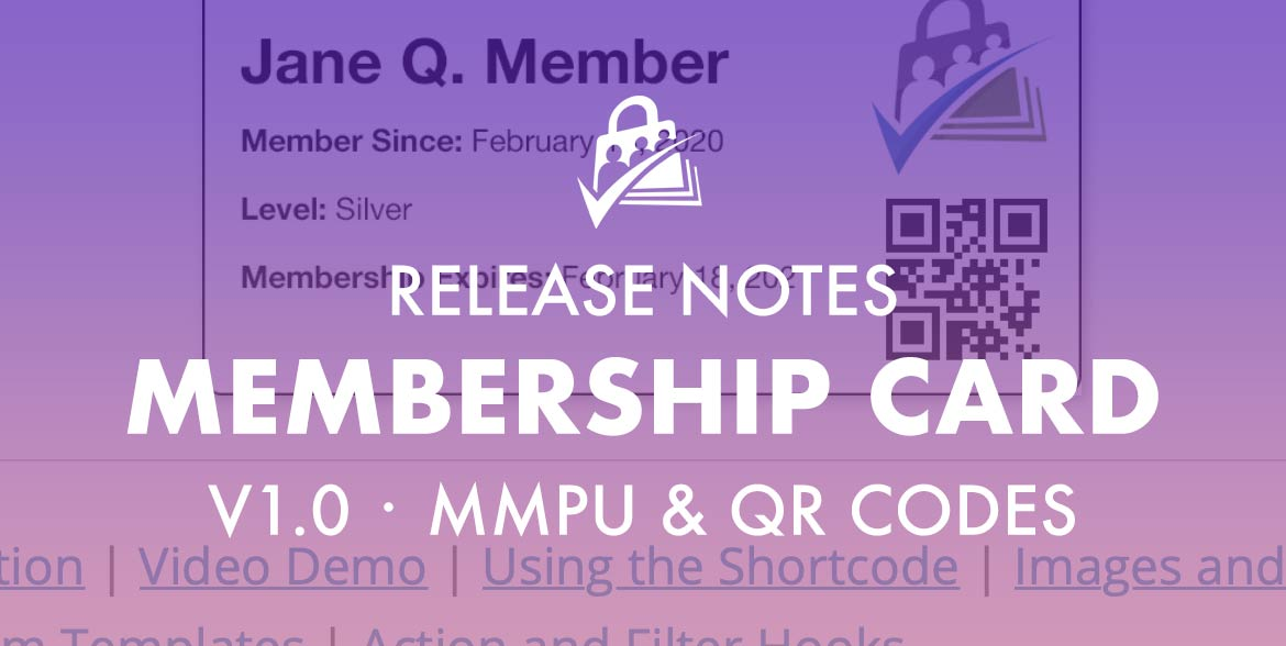 Release Notes for Membership Card v1.0