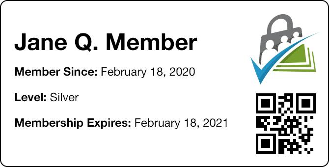 Sample Membership Card for PMPro
