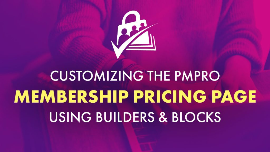 Customize membership pricing page