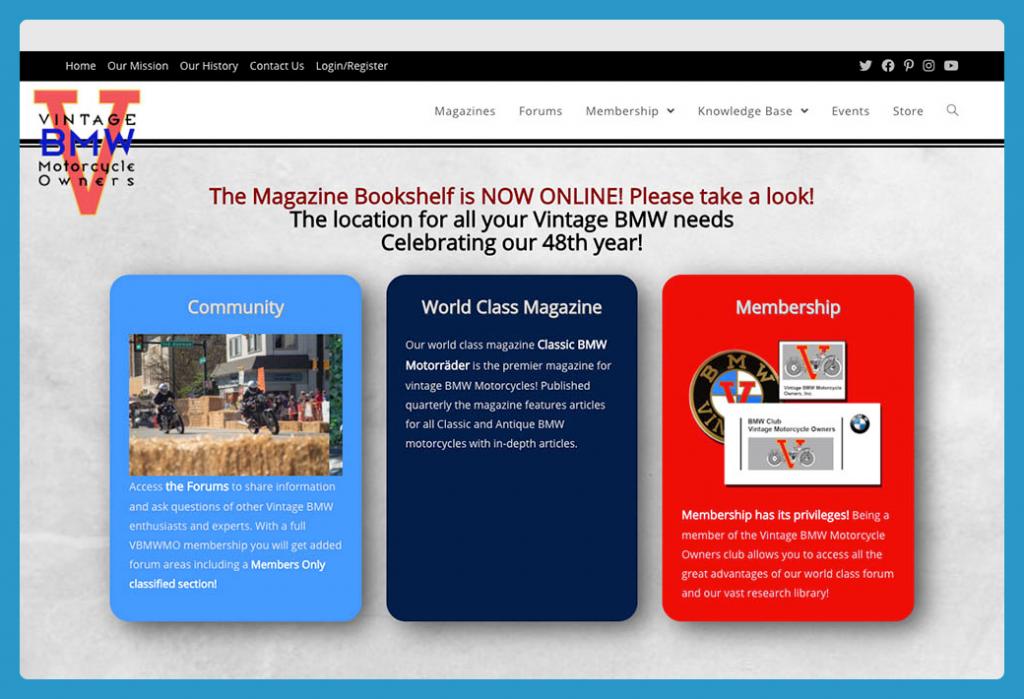 Vintage BMW Motorcycle Owners Membership Site