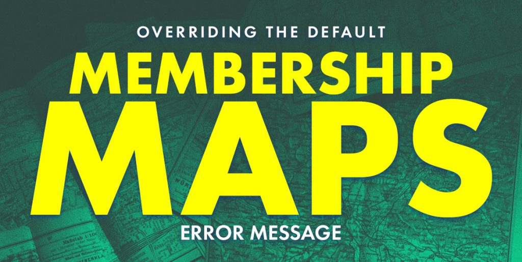 maps error message