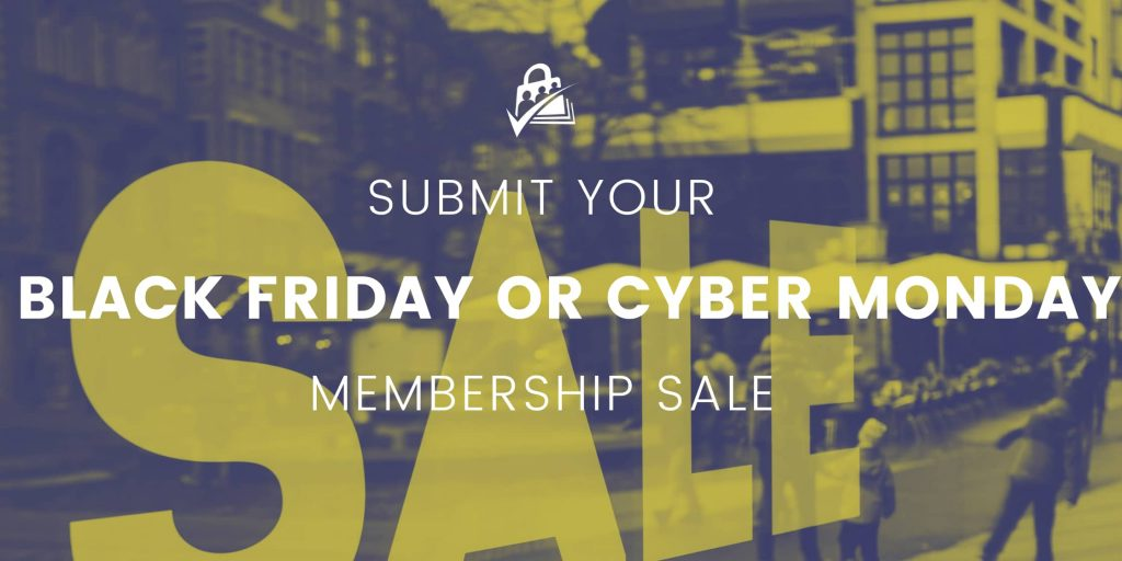 Submit Black Friday or Cyber Monday sale