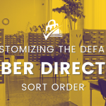 customizing the default membership directory sort order