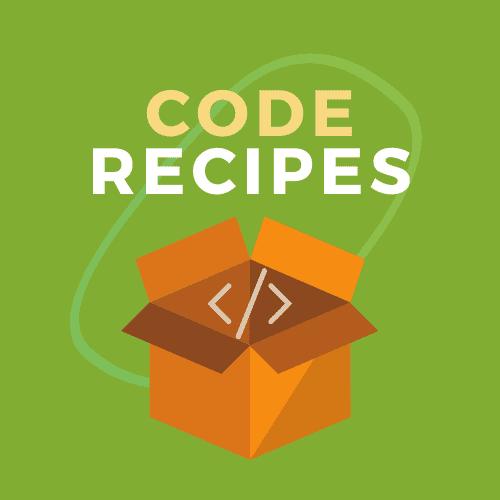 Code Recipes icon graphic