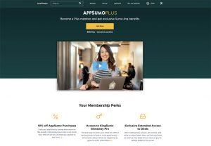 Screenshot of AppSumo Plus Website Homepage