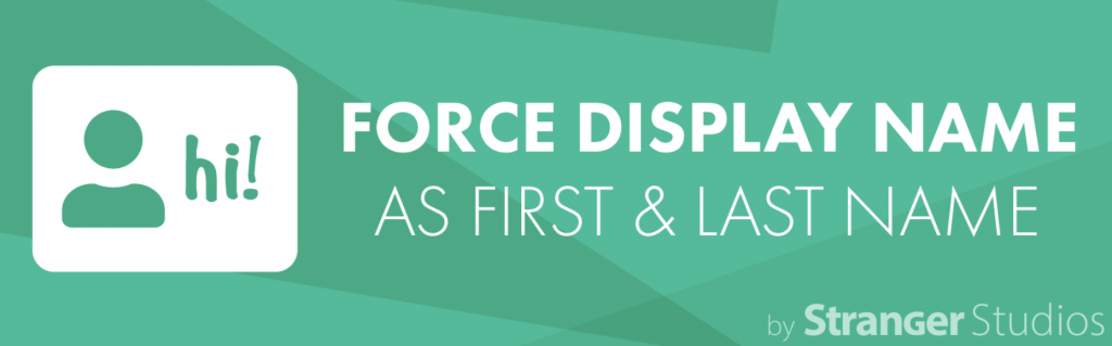 Banner graphic for the Force Display Name plugin